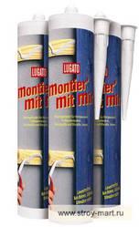 Клей, жидкие гвозди, универсальный для дерева, металлов и пластиков Lugato (Люгато) Montier mit mir