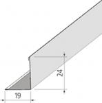 Профиль для подвесного потолка Угол приставной белый Албес 3.0м