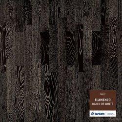 Паркетная доска Tarkett Flamenco (Фламенко) Дуб Black or White (черный-белый)