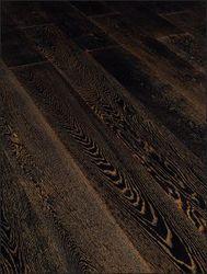 Паркетная доска 1-полосная Wood Bee (Вуд Би) Дуб Антик Блэк 1860x189x15 (брашированная)